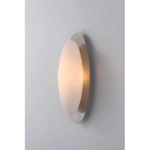 Aplique difusor Mito, cromo y tulipa oval opalina, 1 luz G9, apto led