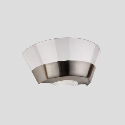 Aplique difusor Bie, acero y cristal, 1 luz E27