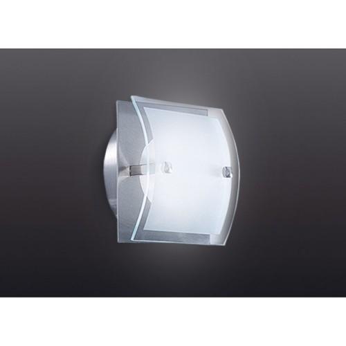 Aplique difusor Escorpio 1 luz G9, apto led, platil  y cristal satinado