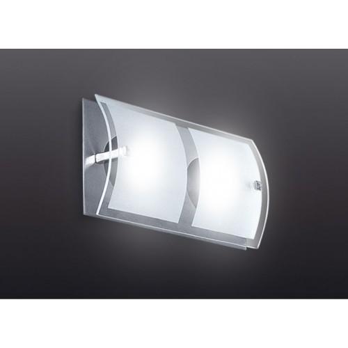 Aplique difusor 2 luces G9, apto led, platil  y cristal satinado