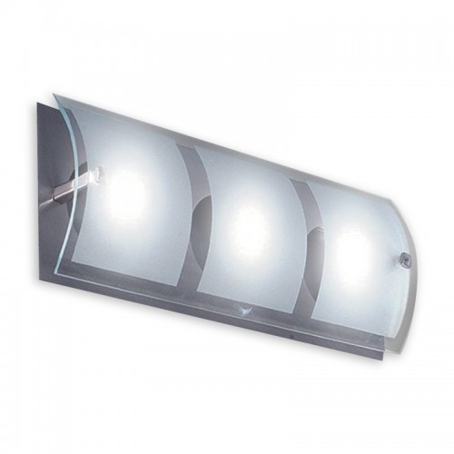 Aplique difusor Escorpio, 3 luces G9, apto led, platil y cristal satinado