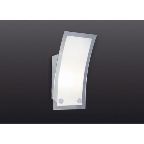 Aplique difusor 4730, 1 luz E27, acero y vidrio satinado