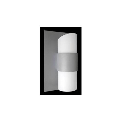 Aplique difusor Altea, 2 luces G9, apto led, aluminio y cristal opal