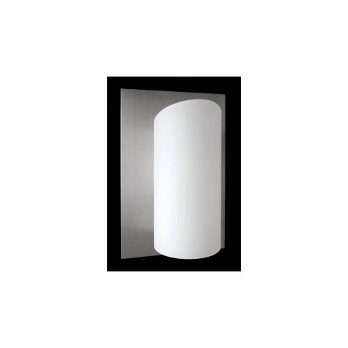 Aplique difusor Selena, 1luz  G9, apto led, aluminio y cristal opal