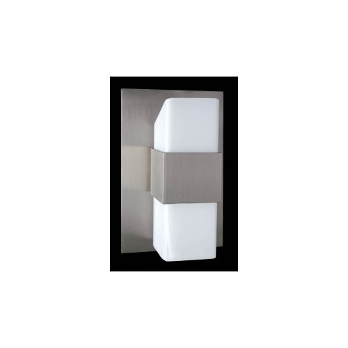 Aplique difusor Adonis, 2 luces G9, apto led, aluminio y cristal opal