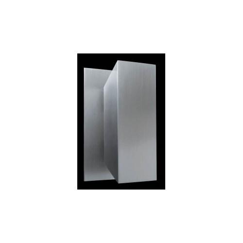 Aplique difusor Apolo, aluminio mate, 2 luces G9, apto led