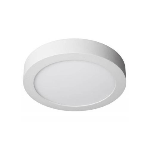 Plafón led 6w , Ø 12cm, marco blanco, luz fría
