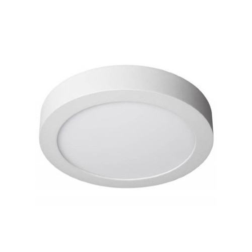 Plafón led 6w  Ø 12cm blanco mate