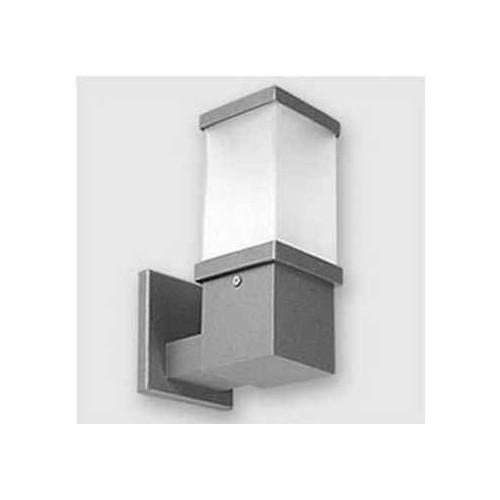 Aplique pared, 1 luz, fundición aluminio y policarbonato