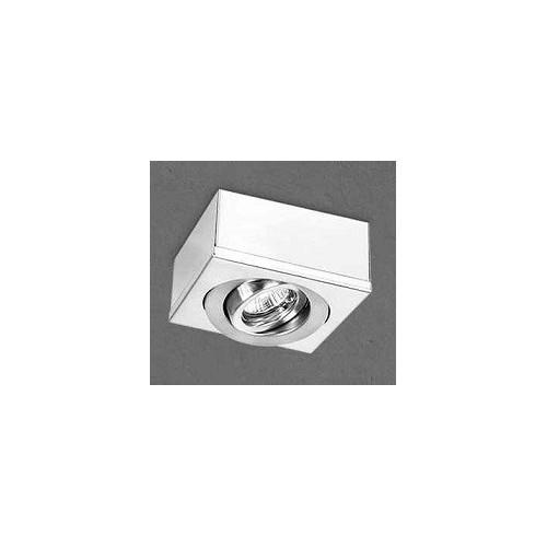 Plafón cardánico 1414, chapa de acero blanca, para 1 lámpara dicroica, apto led