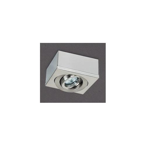Plafón cardánico 1414, chapa de acero platil, para 1 lámpara dicroica, apto led