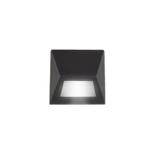 Aplique unidireccional, fundición aluminio y vidrio satinado