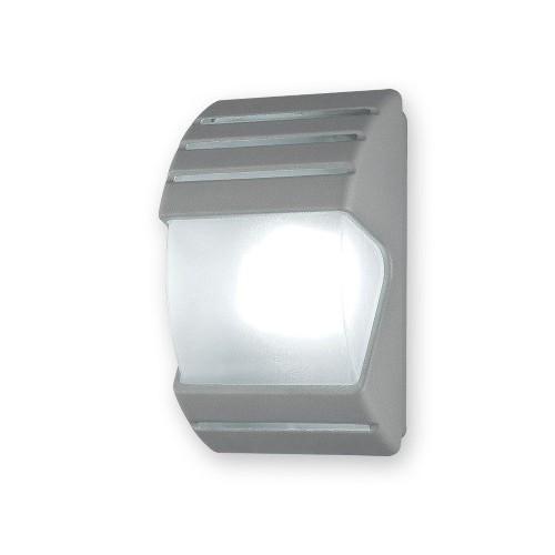 Aplique pared, 1 luz E27, inyección aluminio y policarbonato