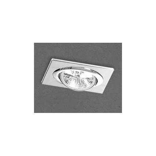 Embutido cardánico 2020E, cuerpo chapa acero blanco, para 1 lámpara AR111, apto led