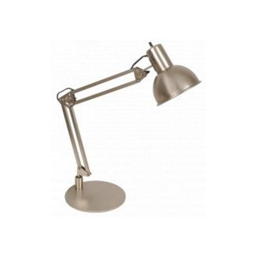 Lámpara escritorio articulada  acero, 1 luz E27. Apto led