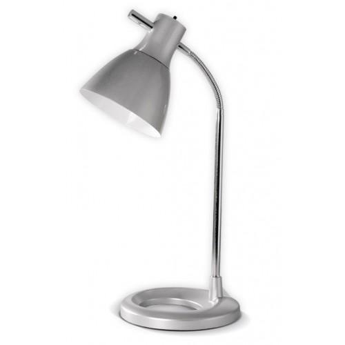 Lámpara escritorio flexible Bri, cromo con acrílico color,  1 luz E27, apto led