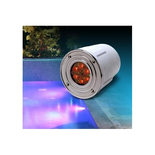 Embutido subacuático led RGB Lago 50, acero inoxidable , plaqueta led 2.4w c/fuente y controladora