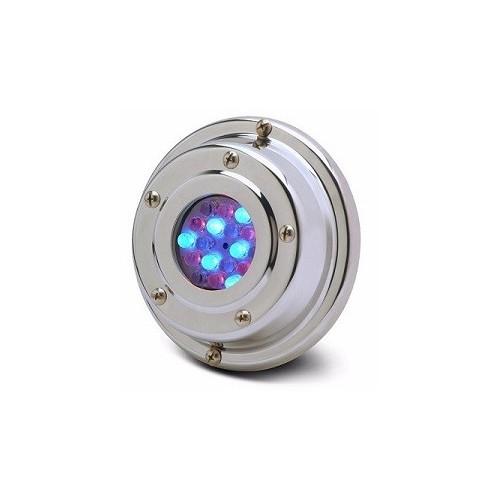 Luminaria subacuática de aplicar Laguna 50, con Led RGB 2.4w, acero inoxidable