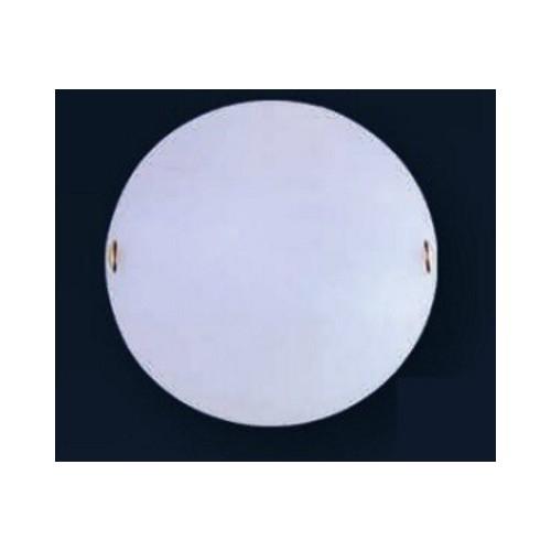 Plafón bombé Turín Ø25cm, base acero blanca, para 1 lámpara E27