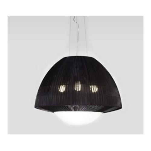Colgante campana Lite, organza negra, 3 luces E27
