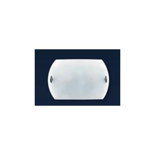 Aplique difusor Turín Ø25 cm, cristal bombé satinado, herrajes en platil u oro, para 1 lámpara E27, apto led