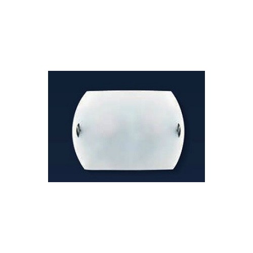 Aplique difusor Turín Ø30 cm, cristal bombé satinado, herrajes en platil u oro, para 1 lámpara E27, apto led