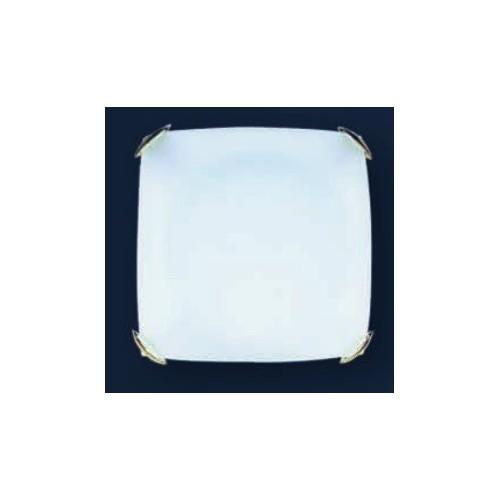 Plafón Almendra 30x30cm, cristal bombé satinado, para 2 lámparas E27, apto led