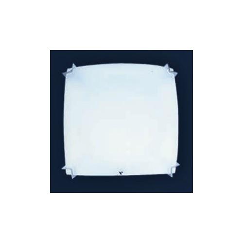 Plafón Angulo 20x20cm, cristal bombé satinado, para 1 lámpara E27, apto led