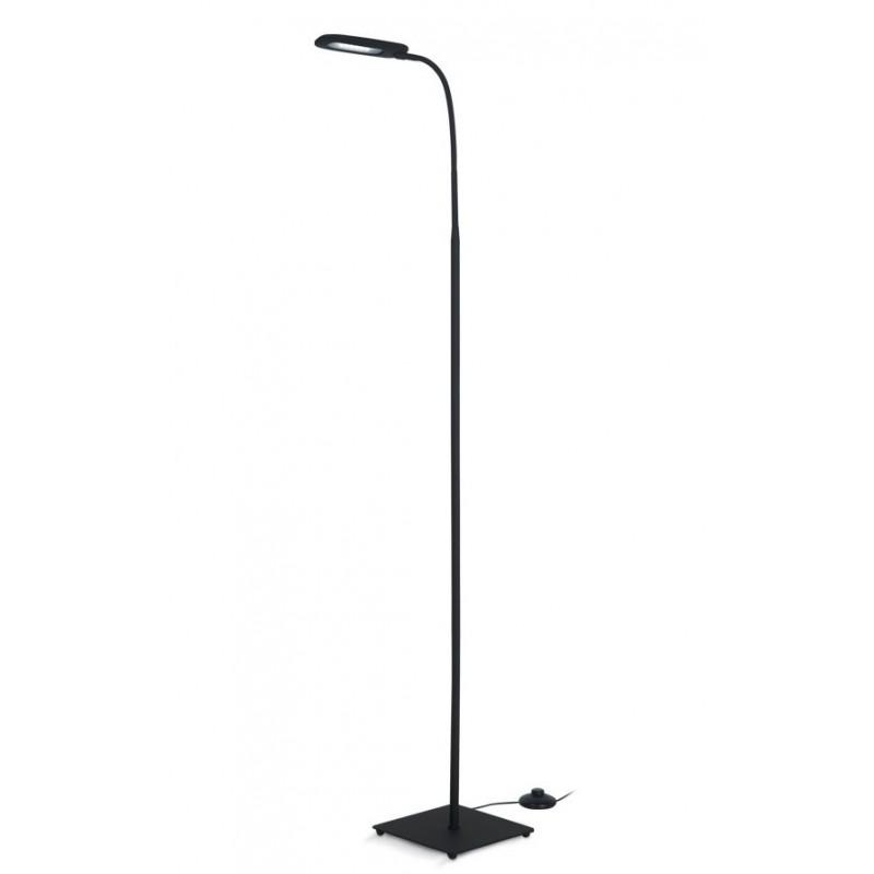 L mpara pie ner n led 4w cabezal flexible dise o for Lampara de piso minimalista