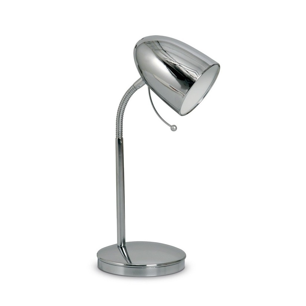 L mpara escritorio flexible focus acero platil o cromo 1 for Lampara de mesa led