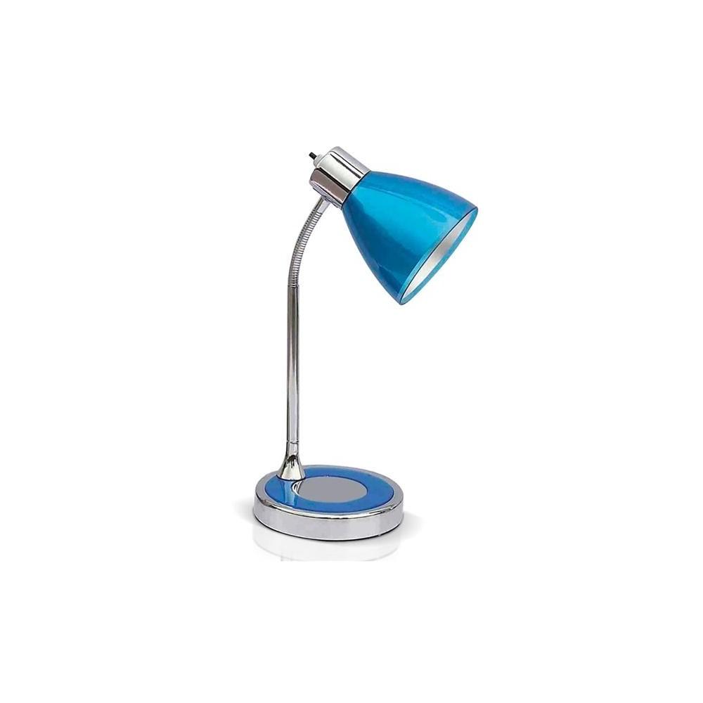 L mpara escritorio flexible clan cromo con acr lico color - Lamparas de escritorio ...