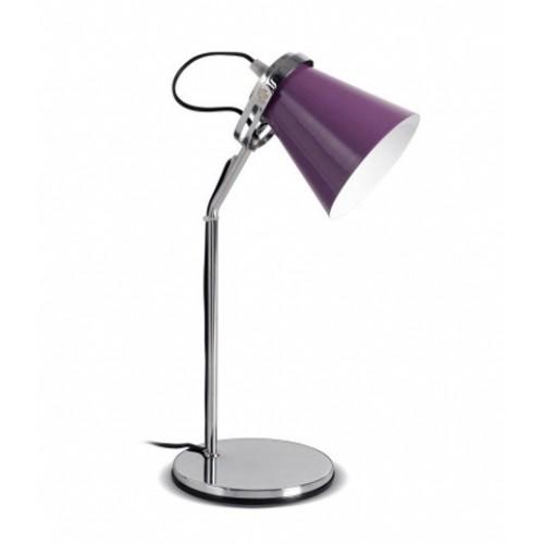 Lámpara escritorio Fon, base cromo, cabezal móvil varios colores, 1 luz E27, apto led