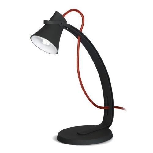 Lámpara escritorio Led 3w, acabado aterciopelado, cable textil color