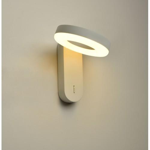Aplique minimalista de led 10w luz cálida, aluminio y acrílico