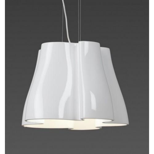 Colgante  3 luces E27, resina y cromo
