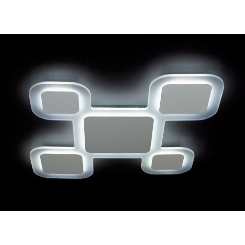 Plafón de led de original diseño, 94w , con placa de acrílico opal, y aluminio blanco