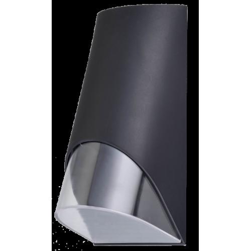 Aplique unidireccional para exterior, aluminio y policarbonato, para 1 lámpara GU10