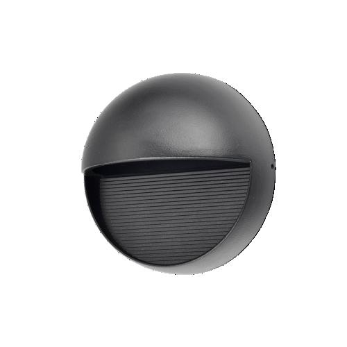 Aplique unidireccional led 10w  para exterior, aluminio y vidrio