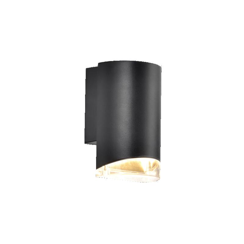 Aplique unidireccional para exterior, aluminio y policarbonato, GU10, apto led