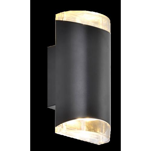 Aplique bidireccional para exterior, aluminio y policarbonato, GU10
