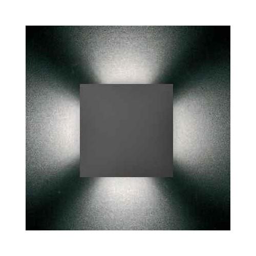 Aplique de led de 4 efectos, aluminio inyectado y policarbonato