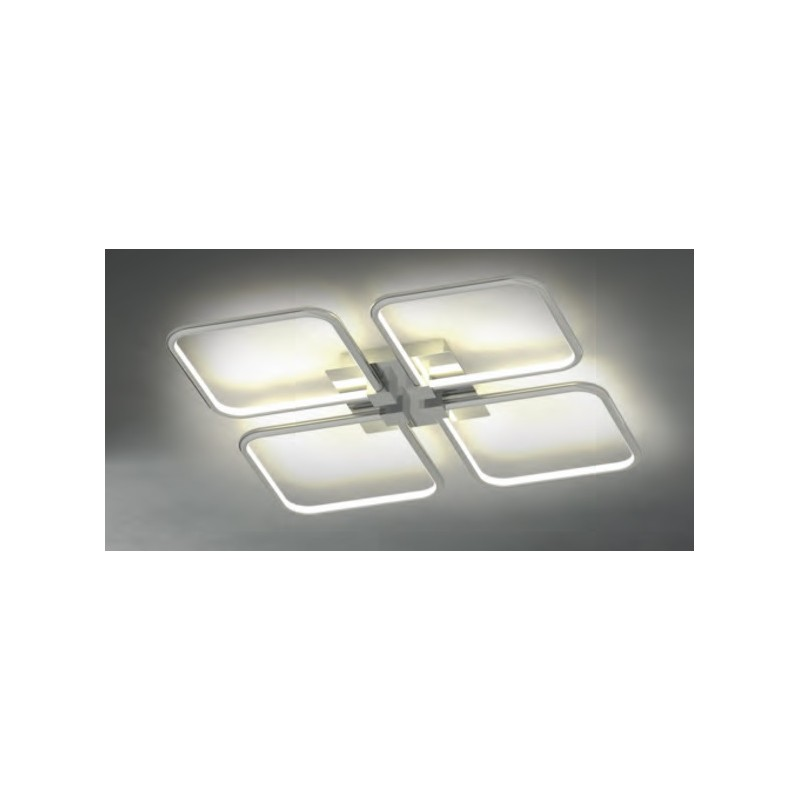 Plaf n led 92w luz c lida indirecta cromado eiffel online - Luz indirecta led ...