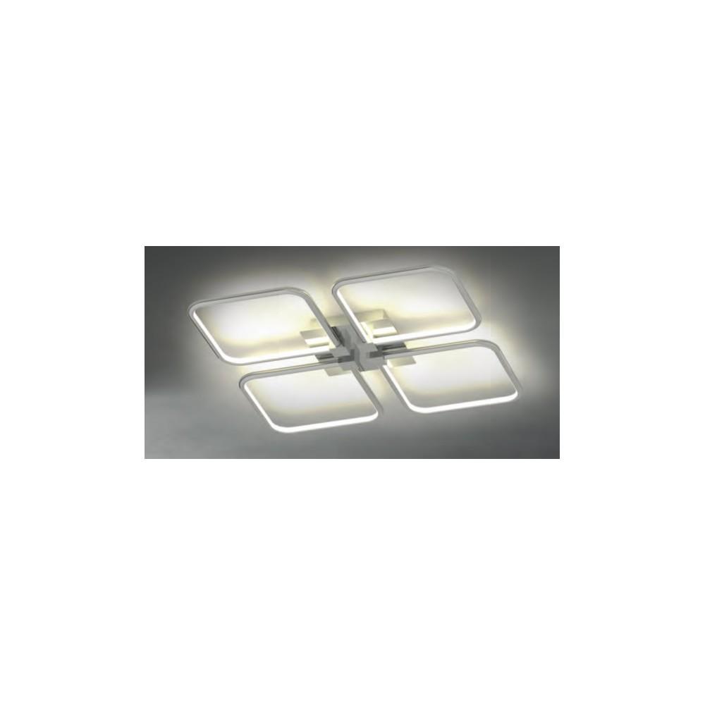 Plaf n led 92w luz c lida indirecta cromado eiffel online - Luz indirecta ...