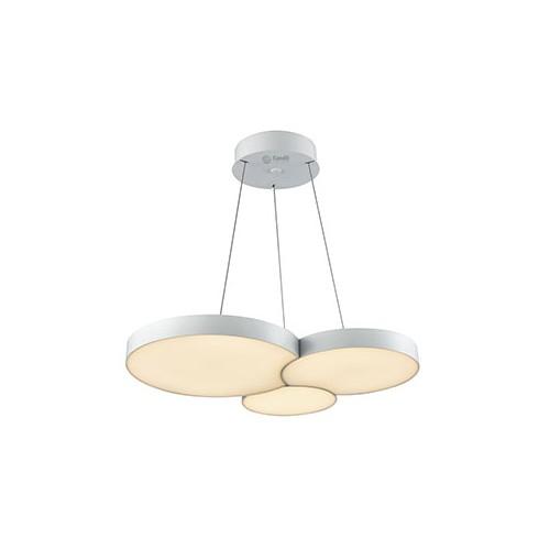Colgante led, diseño circular, con placas circulares encastradas 37w luz cálida, dimerizable