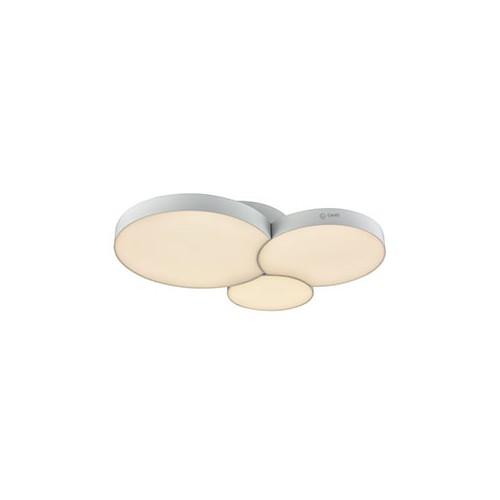 Plafón led, con placas circulares encastradas 37w luz cálida, dimerizable