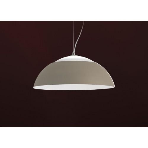 Campana colgante alumino Ø 65cm,con led tono neutro, luz directa 21w e indirecta 13w.