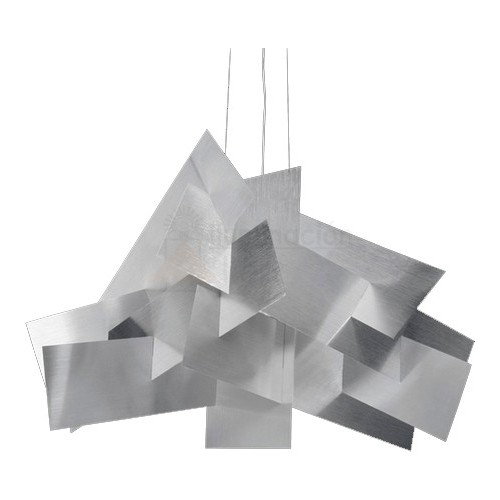 Colgante de placas metálicas entrecruzadas, para 1 lámpara de rosca E27, apto led