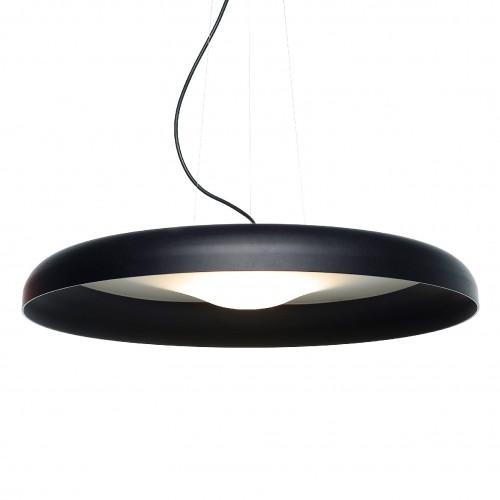 Colgante led diseño minimal, aluminio y acrílico satinado Ø58cm  luz directa cálida 16w