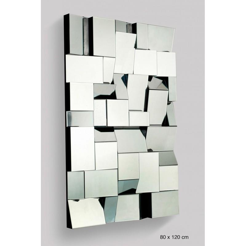 Espejo de diseño geométrico planos inclinados
