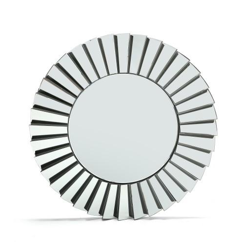 Espejo de diseño circular , marco espejos zigzag biselados